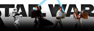 Star Wars saga - banner (CLEAR - no titles) by AndrewSS7