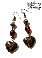 Victorian Valentine Earrings by MissPennyFarthing