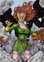 Jean Grey - Sketch Card by tonyperna