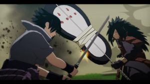 Sasuke vs Madara by MillianaLennie