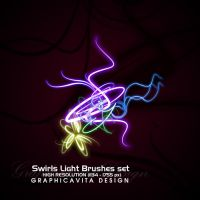 Swirls Light Brushes Set by graphicavita