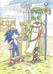 Commission Sonic and Palutena by AngelicDragonElf
