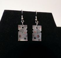 Asymmetrical Abstract Earrings by smelliga