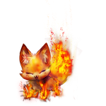 Fox that I added fire to by Shadow3vi1