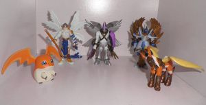 Patamon digivolution action figures by Kitamon