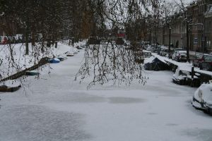 Frozen over Canal by Cora-Leigh