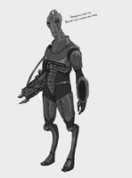 ME3 WIP Salarian Commando by centuryslayer
