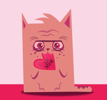 Frankenstein's Kitty Valentine by lyssagal