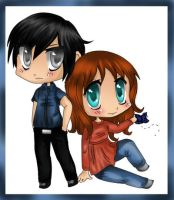 Chibi Comm -Vincent and Kynath by xJwenx