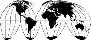 World Map Projection by inspiredcreativity