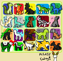 Free Adoptables Batch 9 by Petit-Pets