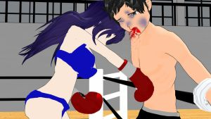 Boxer girl Junko - Me and my sparring partner 16 by Girlpunchlover