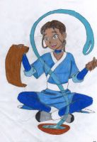 water bending katara by aapie014