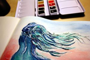 some colorful watercolor action by faith303