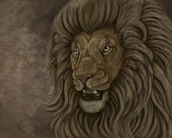 The allegory lion by EmberWolfsArt
