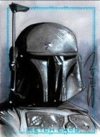 Boba Fett Sketch Card by RandySiplon