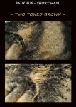 Two-toned faux fur fabric by LisaToms