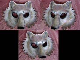 Arctic Wolf Mask by LightningSilver-Mana