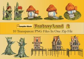 Fantasy Land PNG Stock Pack 2 by Roy3D