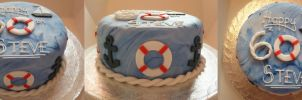 Nautical 60th Birthday Cake by Rebeckington