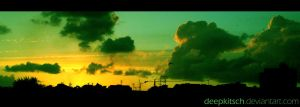 Green sunset by deepkitsch