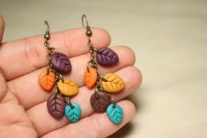 Leaf earrings by Nabila1790