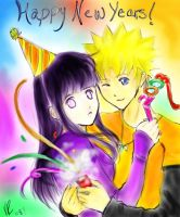 A NaruHina New Years by InvaderVal