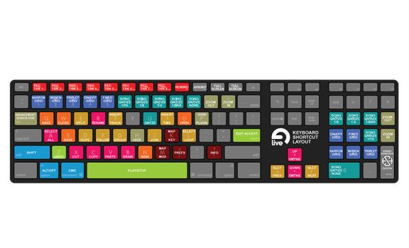 Ableton Live shortcuts keyboard map by sonnyhancock