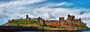 Peel castle, Isle of Man by OlafurJohannesson