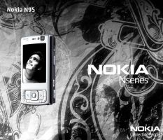 Nokia N95 - Front by Cj-Caty