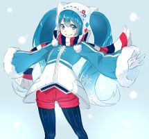 Snow Miku by Moochirin