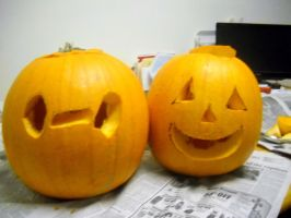 Me and My Dad's Pumpkins by TheWizardofOzzy
