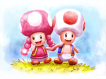 Toad and Toadette 2 by AlineMendes
