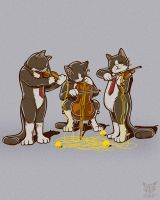 The Yarn-String Trio by rhobdesigns