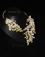 Apple blossom necklace by fion-fon-tier