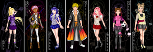 Naruto and his Harem by The-Devil-Butterfly
