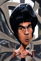 Bruce Lee caricature by rico3244