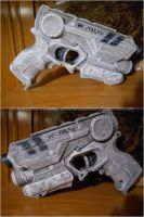 River Song cosplay - Alpha Meson blaster by ArwendeLuhtiene