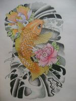 Koi Fish by bonzete