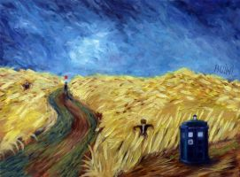Wheat Field With TARDIS by kuiwi
