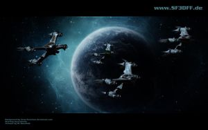 A Starfury Squadron by MrRonsfield