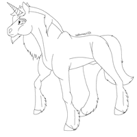 Unicorn Lineart by lolpeaceoutlol