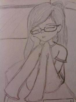 Actually me (Self portrait) by Misumi-Ikede