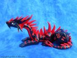 Black and Red Dice Dragon by LegacyofanArtist