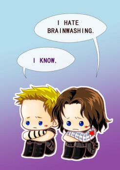 Bucky and Clint by kingbirdkathy