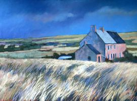 home in the dunes (soft pastel) by PatrickHENRY