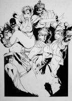 Street fighter pin up inks by duh184