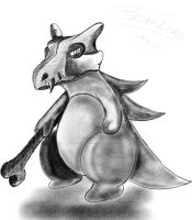 Cubone, quick sketch by PersonaThieves
