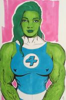 Fantastic She Hulk! by seanpatrick76