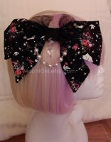 Large Cinderella hair bow by paintpops